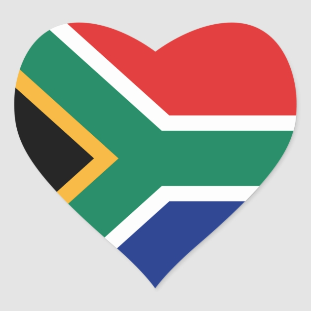 South Africa Flag Heart Sticker Zazzle - Create Your Own Wall Stickers